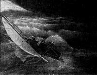 Трое во время шторма. С картины Р. Е. Алексеева (1937 г.)