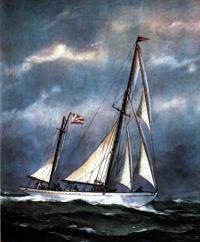 «Ударник» в открытом море. Рисунок Е. Войшвилло