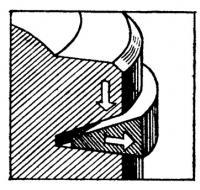 Уплотнительное поршневое кольцо с клиновидным поперечным сечением