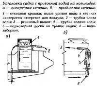 Установка садка с проточной водой на мотолодке