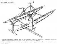Устройство аппарата «Flying Fish II» на подводных крыльях