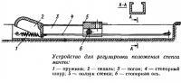 Устройство для регулировки положения степса мачты
