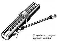 Устройство регулируемого шпора