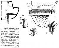 Устройство шверта веерного типа