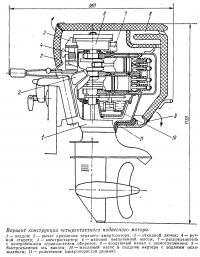 Вариант конструкции четырехтактного подвесного мотора