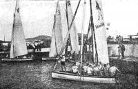Вела латина-канариас в гавани Лас-Пальмаса