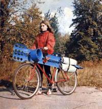 Велосипед-амфибия в сухопутном состоянии