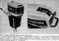 Вид на мотор с кормовой части и органы управления