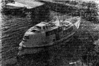 Вид сзади на катер «Кентавр»