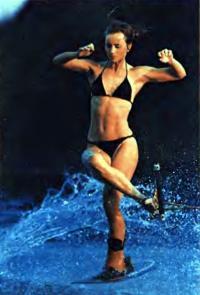 Выступает белорусская воднолыжница Марина Амельянчик