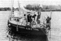 Яхта «Алба-II» на ходу