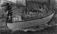 Яхта «Алмаз» после финиша