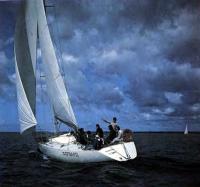 Яхта «Форвард» под парусами
