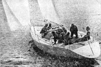 Яхта «ЛЭС-35» на пробном выходе в море