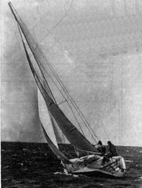 Яхта «Нева» под парусами