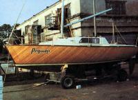 Яхта «Родшер» на трейлере