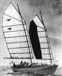 Яхта «Санбёд-32» на ходу