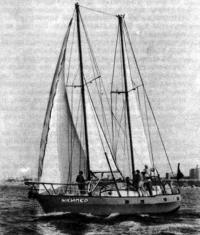 Яхта «Шкипер» на ходу