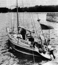 Яхта «Вирма» у причала