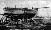 Яхта во время ремонта и переоборудования. Фото 1931 г. из коллекции С. И. Ухина