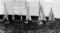 Яхты на дистанции гонок «Малого кубка Черного моря»