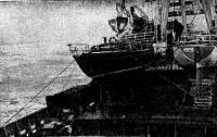 Яхты на палубе «Бобруйсклеса» плывут в Сен-Мало через льды Балтики