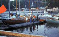 Яхты с иностранными туристами в ленинградском яхт-клубе ВМФ