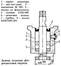Замена сальника фторопластовой втулкой