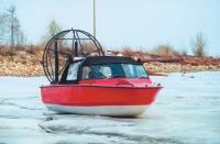 Аэролодка Хаски на льду