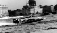 Андрей Берницын на скутере, предоставленном итальянцем Ф. Бокка