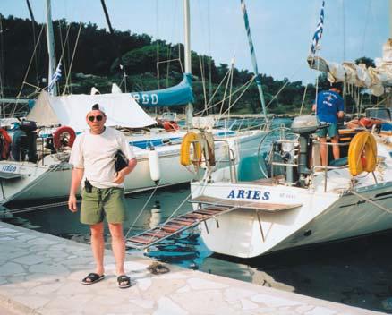 Автор на острове Паксос