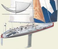 Автор проекта — Ларс Бергстрем. Верфь — Hunter Marine Corporation