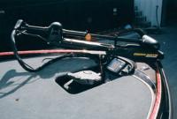 Бесшумный подвесной электромотор с педальным управлением и эхолот