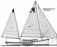 Боковой вид яхты Сан-Суси