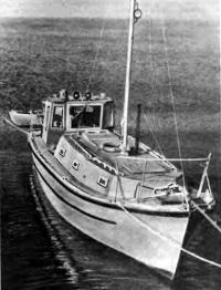 Бот «Мирный» на воде