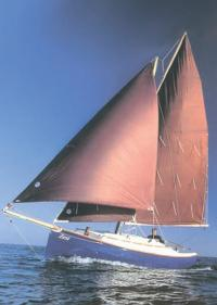 """""""Cape Cutter 19"""" на ходу под парусами"""