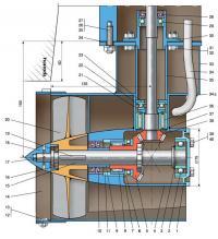 Чертеж водометной приставки