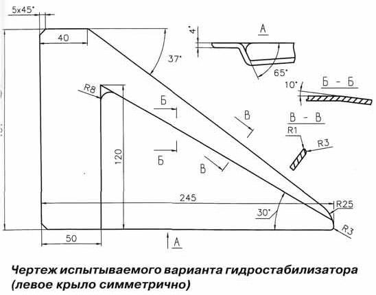 Крыло для лодочного мотора своими руками чертежи 86