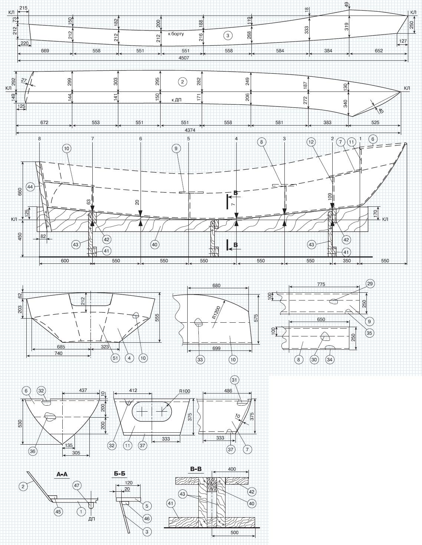 Проекты катеров, лодок и яхт для самостоятельной постройки 20