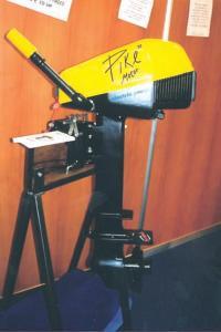 Демонстрационный экспонат электромотора «Bramel» с вырезом в дейдвуде