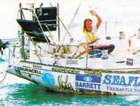 Дэвид Дикс на своей яхте