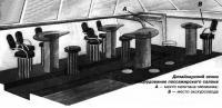 Дизайнерский эскиз оборудования пассажирского салона