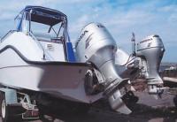 Два подвесных мотора на транце