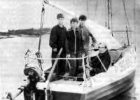 Экипаж «Ассоли» на своей яхте