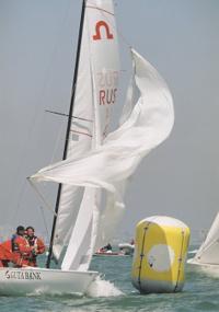 Экипаж на яхте российского