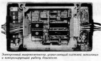 Электронный микрокомпьютер, управляющий системой зажигания и двигателя