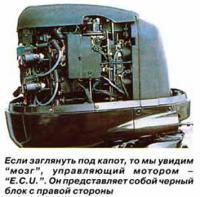 Если заглянуть под капот, то мы увидим мозг, управляющий мотором ECU