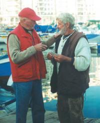Евгений Александрович Гвоздев и шкипер английской яхты Pilgrim Джонс