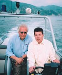 Фабио Буцци и автор на борту