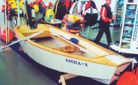 Фанерная гребно-моторная лодка